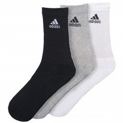 Calcetines Adidas 3-Stripes Performance blanco-gris-negro