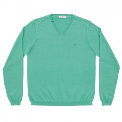 Pullover Sun68 Solid Homme jade
