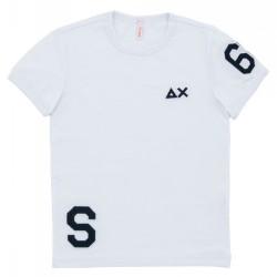 T-shirt Sun68 Patch Sport Garçon blanc (8-10 ans)