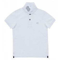 Polo Sun68 El. 68 Solid Junior white (8-10 years)