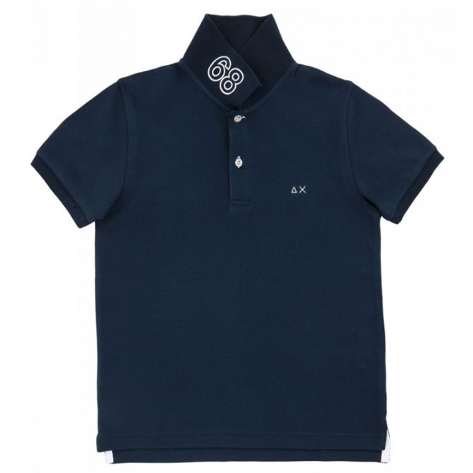 Polo Sun68 Solid navy