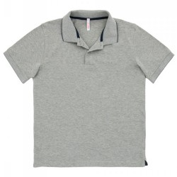 Polo Sun68 El. Small Stripe Man grey