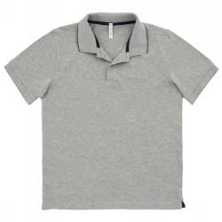 Polo Sun68 El. Small Stripe Man grey