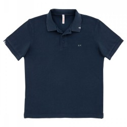 Polo Sun68 Vintage Solid Man navy