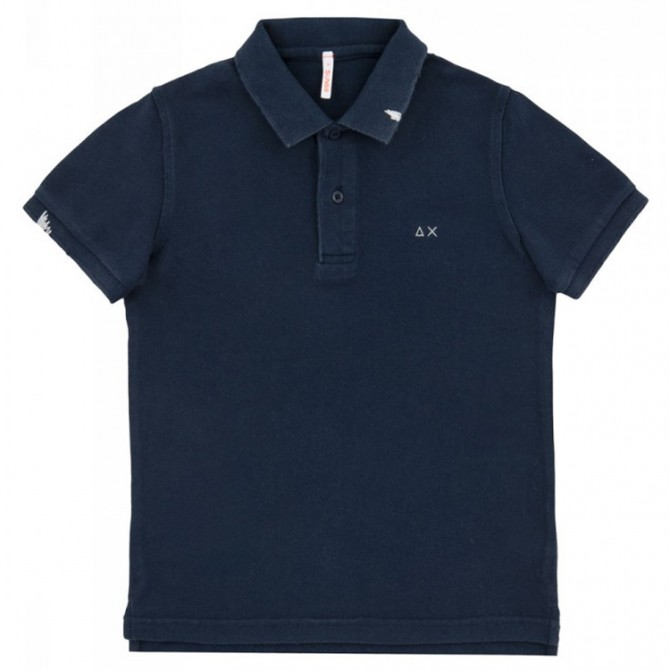 Polo Sun68 Vintage Solid Junior navy (12-14 years)