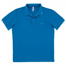 Polo Sun68 Vintage Solid Junior royal (8-10 years)