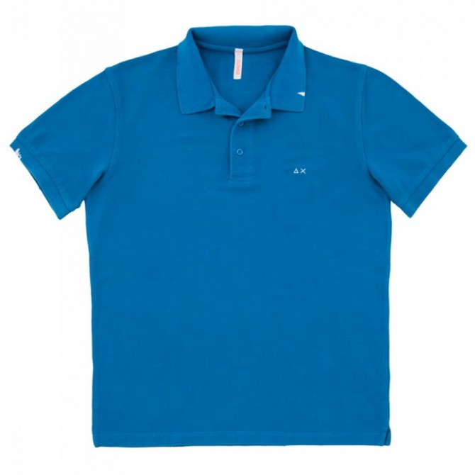 Polo Sun68 Vintage Solid royal
