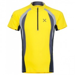 Trail running t-shirt Montura Run Zip 5 Man yellow
