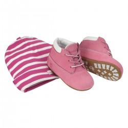 Set Timberland Crib Bootie rosa Baby