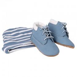 Set Timberland Crib Bootie azzurro Baby