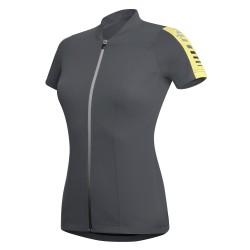 Jersey ciclismo Zero Rh+ Spirit Mujer gris-amarillo