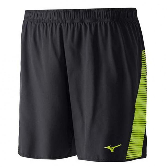 Pantaloncino Trail Running Miz nero-giallo fluo