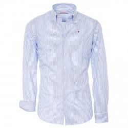 Camisa Canottieri Portofino Hombre azul claro rayas