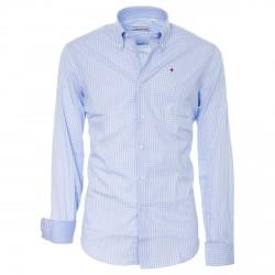Camicia Canottieri Portofino Uomo celeste-bianco