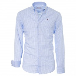 Shirt Canottieri Portofino Man ligh blue-white