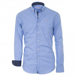 Camicia Canottieri Portofino celeste-bianco-blu