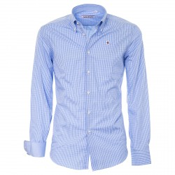 Shirt Canottieri Portofino Man checked blue