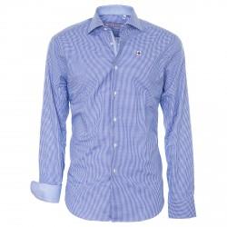 Camisa Canottieri Portofino Hombre azul claro-blanco