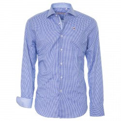 Chemise Canottieri Portofino Homme bleu clair-blanc