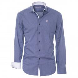 Camicia Canottieri Portofino Uomo blu-bianco