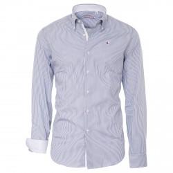 Camisa Canottieri Portofino Hombre gris-blanco
