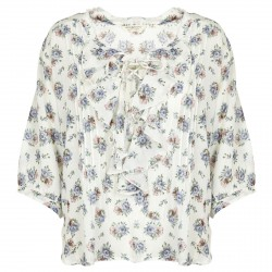 Blusa Denim & Supply Ralph Lauren Floral Ruffled Donna