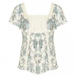 Blusa Denim & Supply Ralph Lauren Floral Lace Bib Mujer