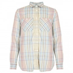 Camicia Ralph Lauren Utility azzurro-rosa quadri