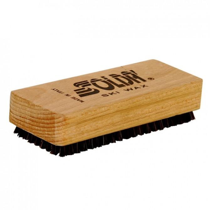 Pincel plano de crin y nylon Soldà