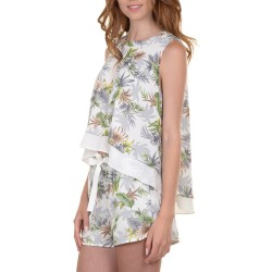 Completo Molly Bracken R621E16 top e shorts Donna