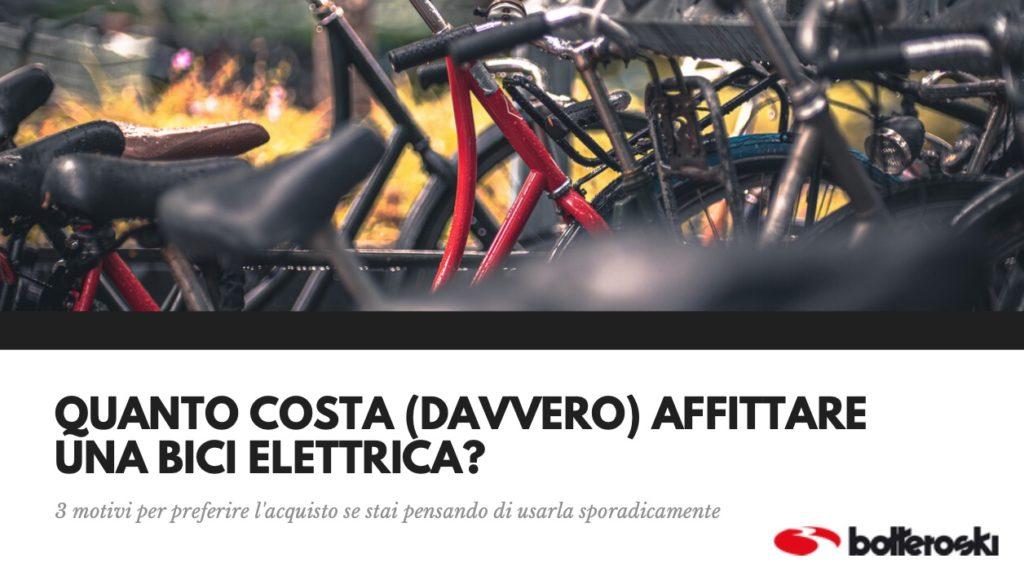 quanto costa affittare una bici elettrica