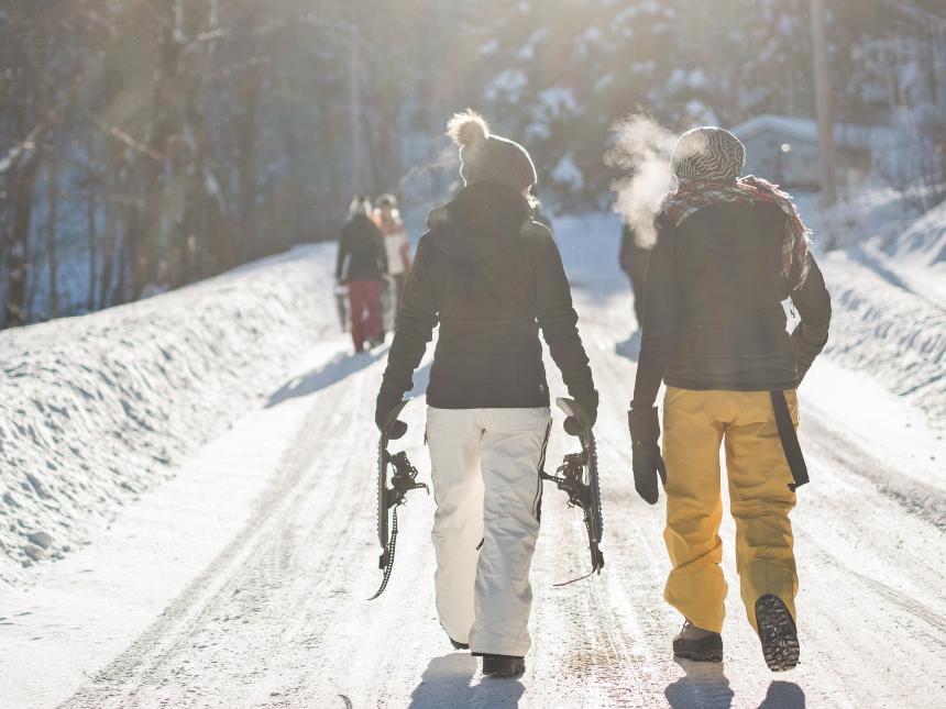 abbigliamento sci o per camminare sulla neve