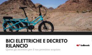 bici elettriche e decreto rilancio