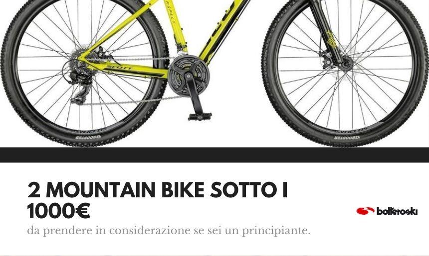 mountan bike sotto i mille euro