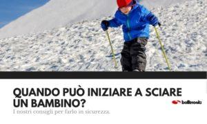 Quando può iniziare a sciare un bambino