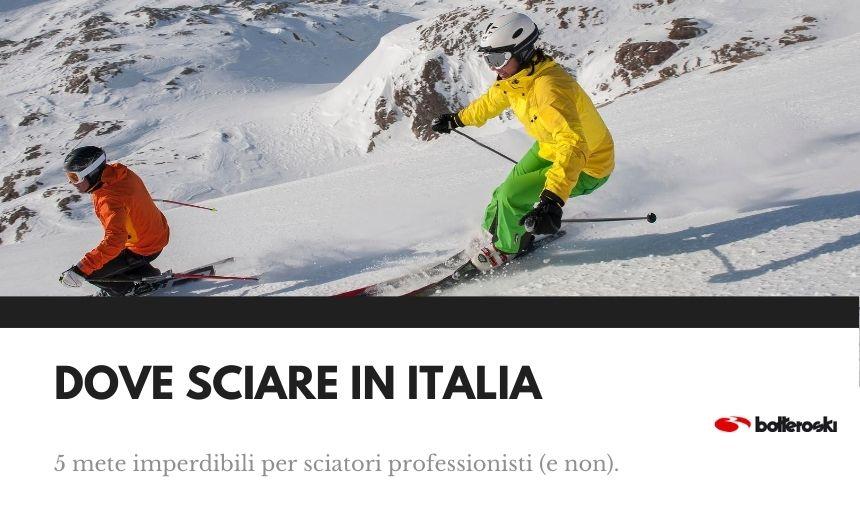 dove usare gli sci in italia