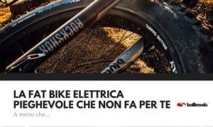 fat bike elettrica come soluzione anche pieghevole