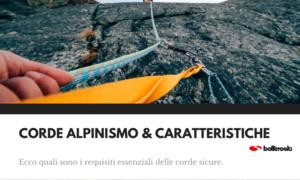 Corde alpinismo caratteristiche