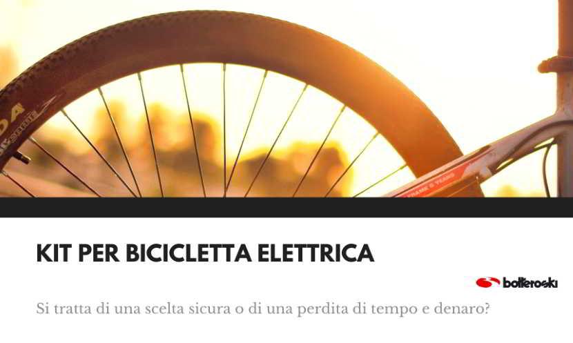 Rischi dei kit per bicicletta elettrica
