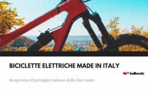 Bicilette elettriche made in Italy nel mondo