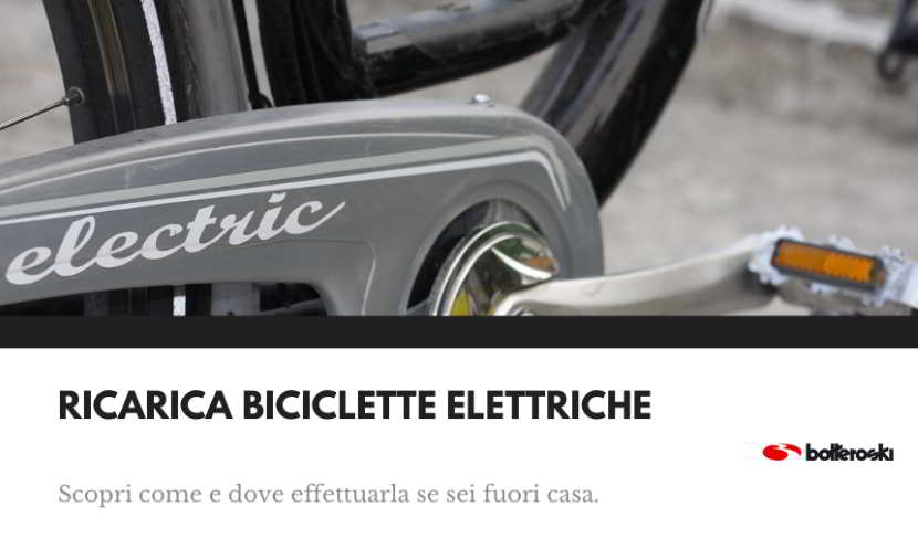 Ricarica bici elettriche fuori casa.