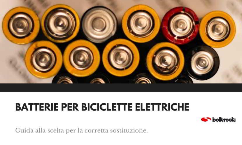 Scelta delle batterie per biciclette elettriche