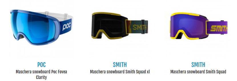 consigli maschere da snowboard