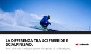 Differenza sci freeride e scialpinismo spiegata semplice.