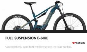 Full suspension e-bike: caratteristiche.
