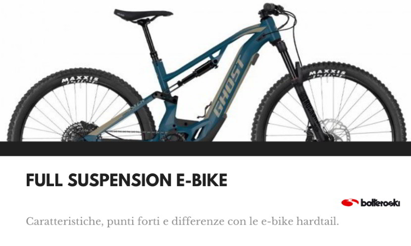 Full suspension e-bike: caratteristiche.