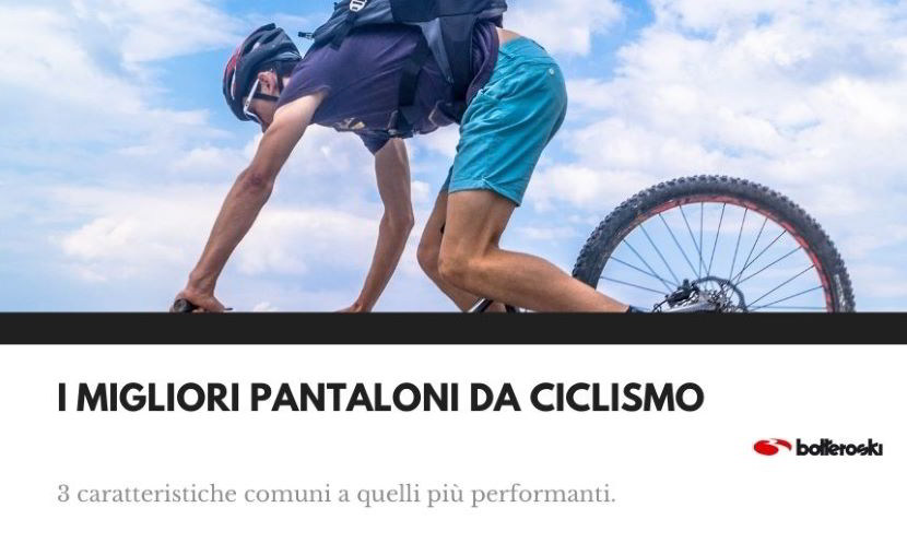 Caratteristiche dei migliori pantaloni da ciclismo.