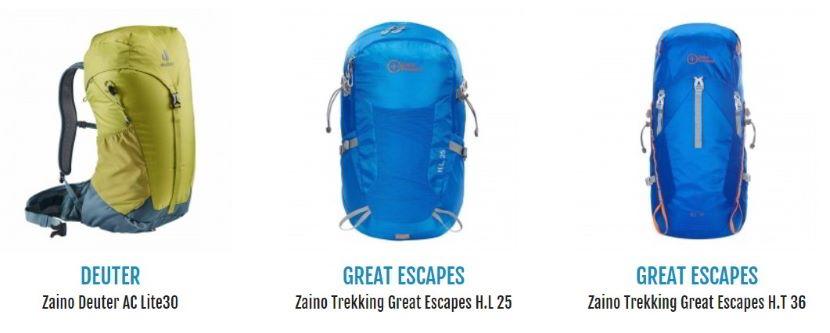 Cosa portare in montagna d'estate? Zaino da trekking capiente.