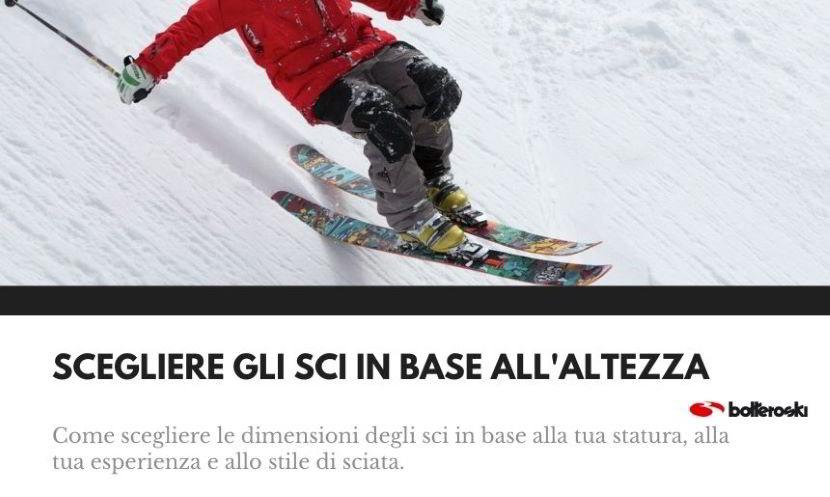 Scegliere gli sci in base all'altezza, allo stile e all'esperienza