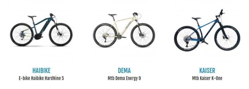 mountain-bike per La Via del Sale